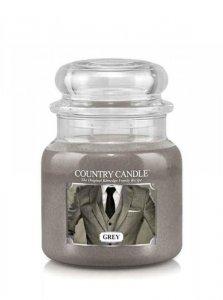 Country Candle - Grey - Średni słoik (453g) 2 knoty