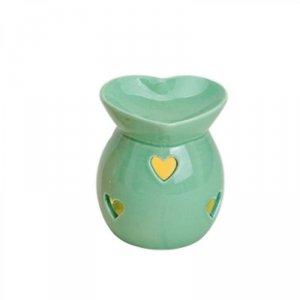 Kominek do wosków: Pastelowe serce (zielony)