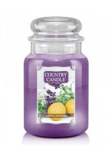 Country Candle - Lemon Lavender - Duży słoik (652g) 2 knoty