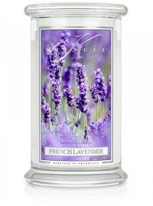 Kringle Candle - French Lavender - duży, klasyczny słoik (623g) z 2 knotami