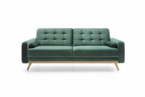 Sofa z funkcją spania 3F - Nova Butelkowa Zieleń