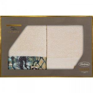 Eva Minge Komplet Ręczników CARLA 70x140 Beżowy Eurofirany