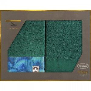 Eva Minge Komplet Ręczników CAMILA 50x90 Ciemny Zielony Eurofirany