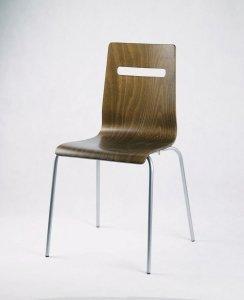 MIA krzesło, sklejka/metalowa rama