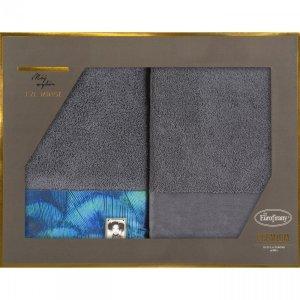 Eva Minge Komplet Ręczników CAMILA 50x90 Stalowy Eurofirany