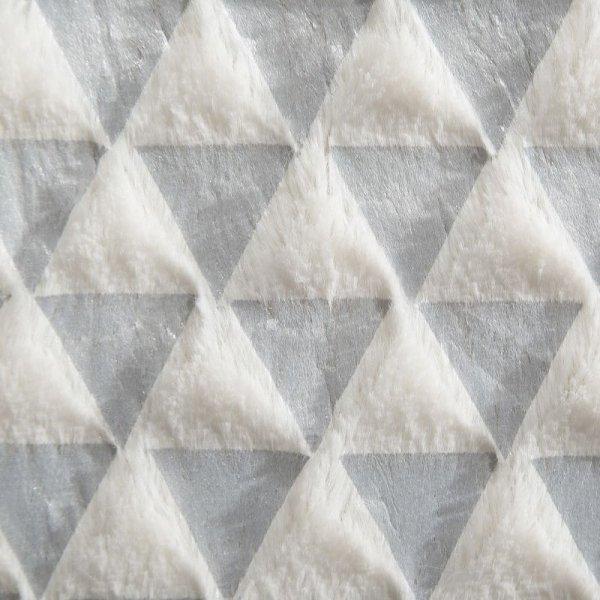 Narzuta Włochacz GRETA Biały+Srebny  150X200 Eurofirany
