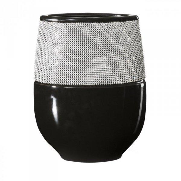 ANEL Wazon 05 21X9X28 Czarny+Srebrny