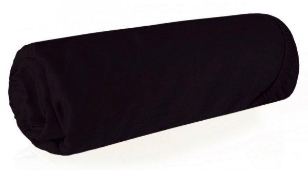 Prześcieradło NOVA3 z makosatyny 140X200 z gumką Czarne Eurofirany