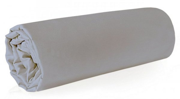 Prześcieradło NOVA z makosatyny 180X210 Srebrne Eurofirany