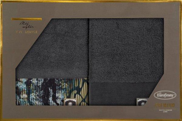 Eva Minge Komplet Ręczników CARLA 70x140 Stalowy Eurofirany
