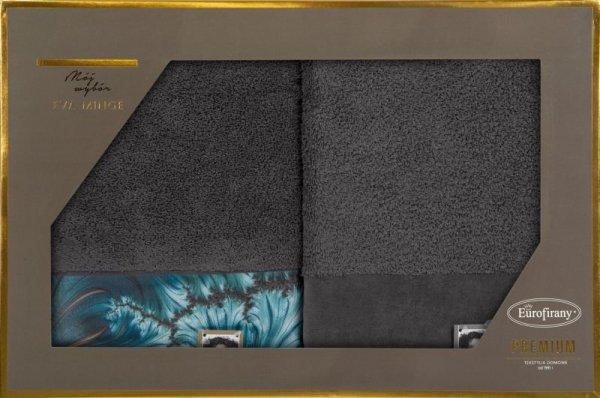 Eva Minge Komplet Ręczników CHIARA 70x140 Stalowy Eurofirany