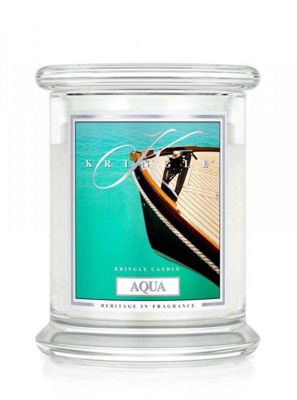 Kringle Candle - Aqua - średni, klasyczny słoik (411g) z 2 knotami