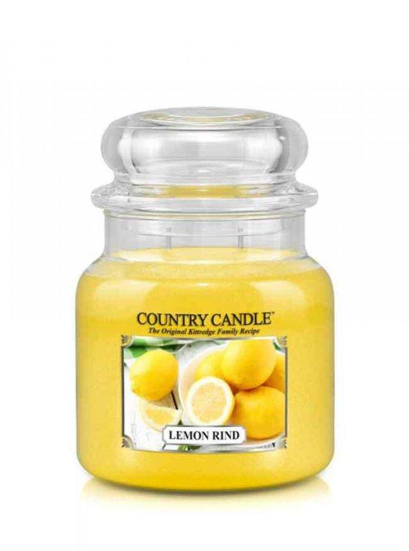 Country Candle - Lemon Rind -  Średni słoik (453g) 2 knoty