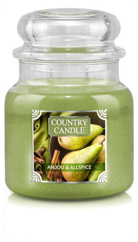 Country Candle - Anjou & Allspice - Średni słoik (453g) 2 knoty