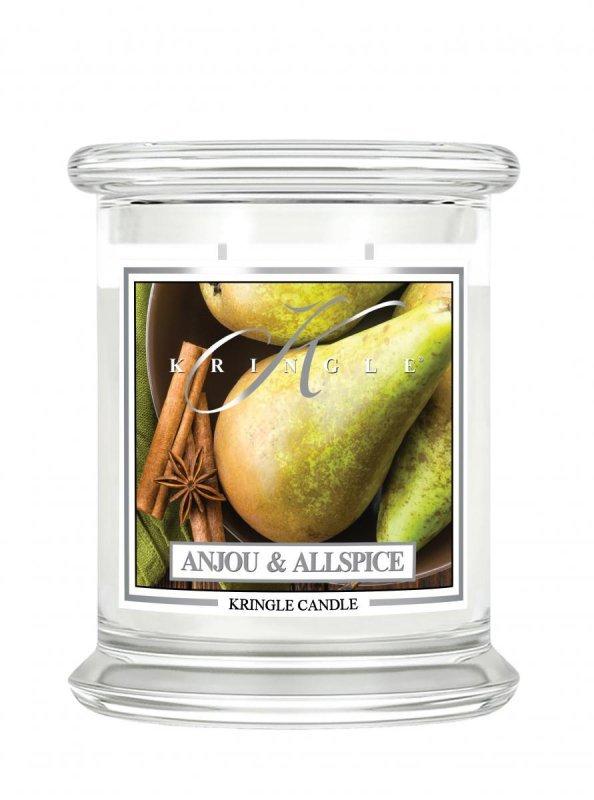 Kringle Candle - Anjou & Allspice - średni, klasyczny słoik (411g) z 2 knotami