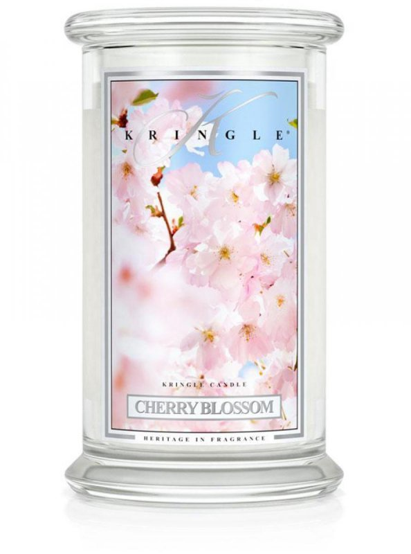 Kringle Candle - Cherry Blossom - duży, klasyczny słoik (623g) z 2 knotami