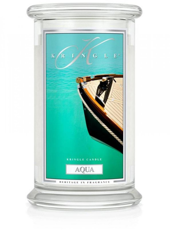 Kringle Candle - Aqua - duży, klasyczny słoik (623g) z 2 knotami
