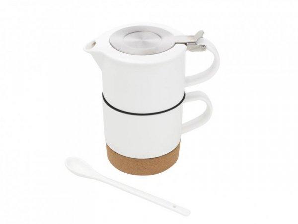 KUBEK NA KORKOWEJ PODSTAWCE TEA FOR ONE 440ML