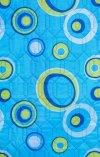 Tkanina leżaka kolorowe oczka