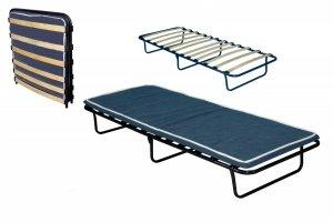 Łóżko polowe składane KRETA 190 x 80 materac 6 cm grubości