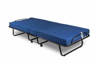 Łóżko składane polowe, dostawka hotelowa TORINO 80 x 190 cm materac 10 cm