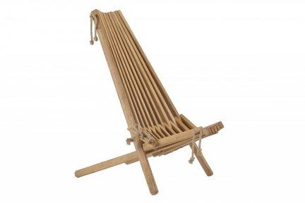 Fotel drewniany EcoChair  dąb oliwiony