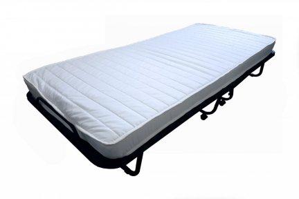 Łóżko polowe składane dostawka hotelowa  90x200 materac  10 cm grubości microfibra