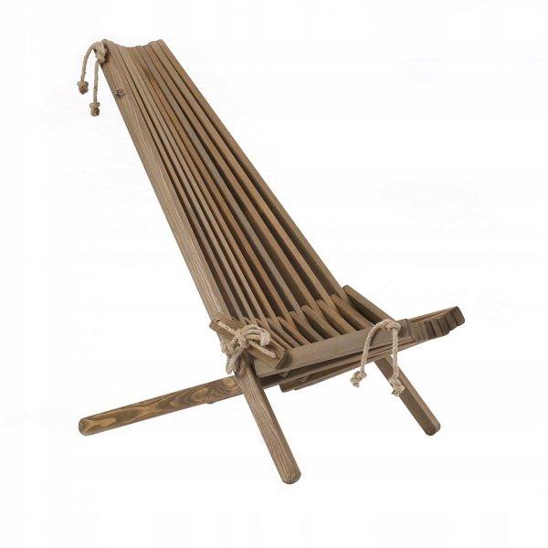Fotel EcoChair, sosnowy, olejowanie na brąz