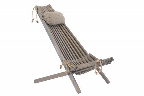 Leżak Fotel drewniany EcoFurn EcoChair Sosna Szary Olej