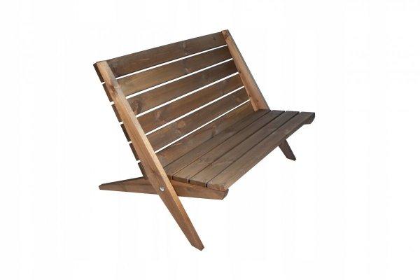Leżak Fotel podwójny EcoFurn Double Granny Sosna Natural