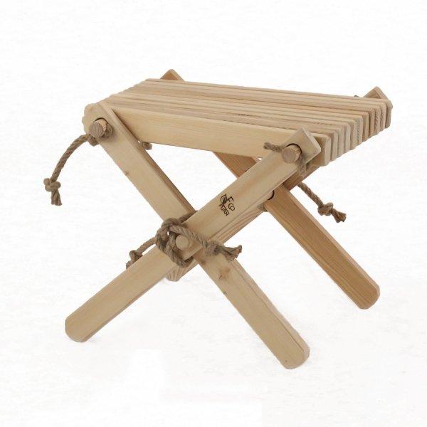 Stolik podnóżek drewniany EcoFurn Sosna Szary Olej