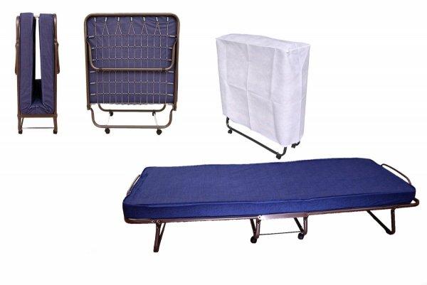 Do wynajęcia łóżko składane Torino-gruby materac stelaż siatka