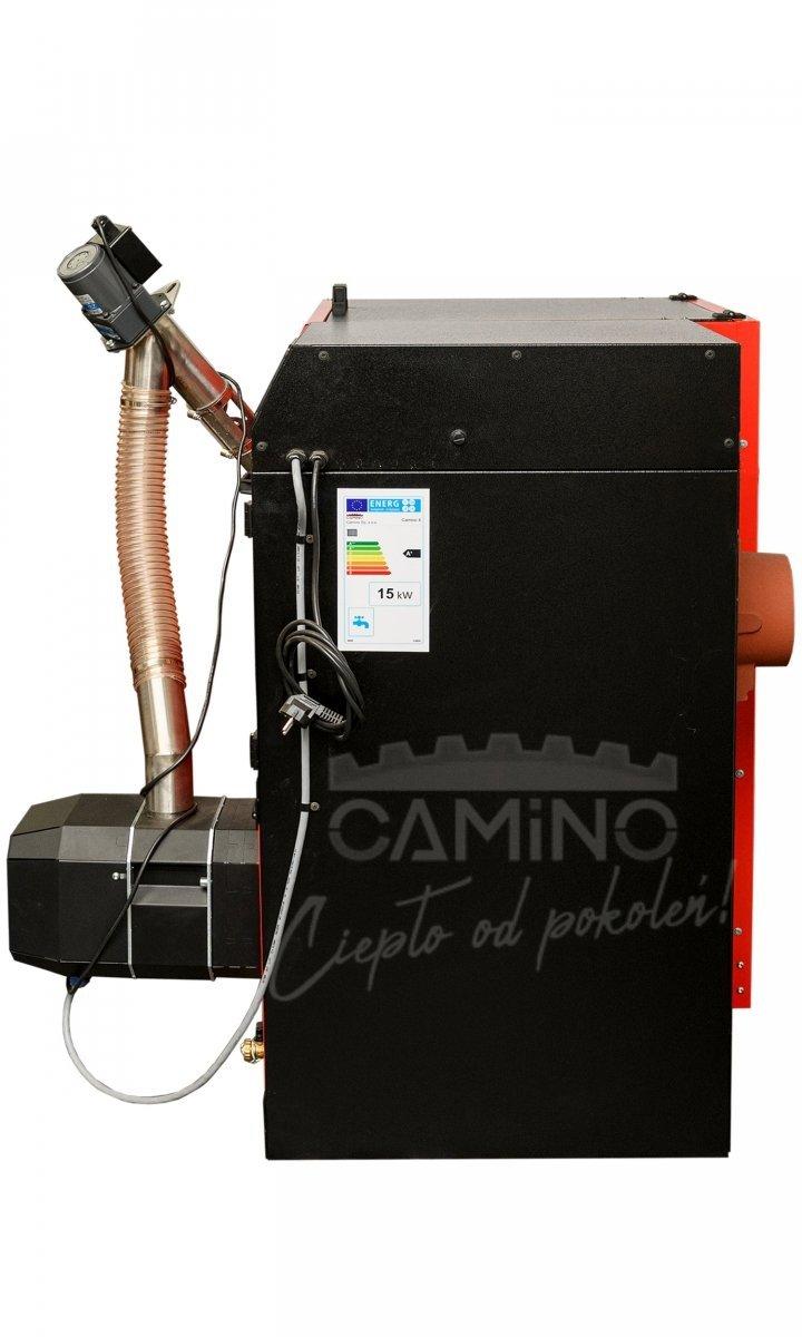 Camino 4 żeliwny kocioł na pellet z podajnikiem o mocy 10 KW ecoMax 860 simTOUCH ST4 Seperate