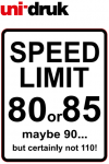 Naklejka Limit Prędkości 80 - mała