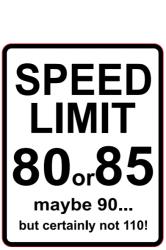 Naklejka Limit Prędkości 80 - duża