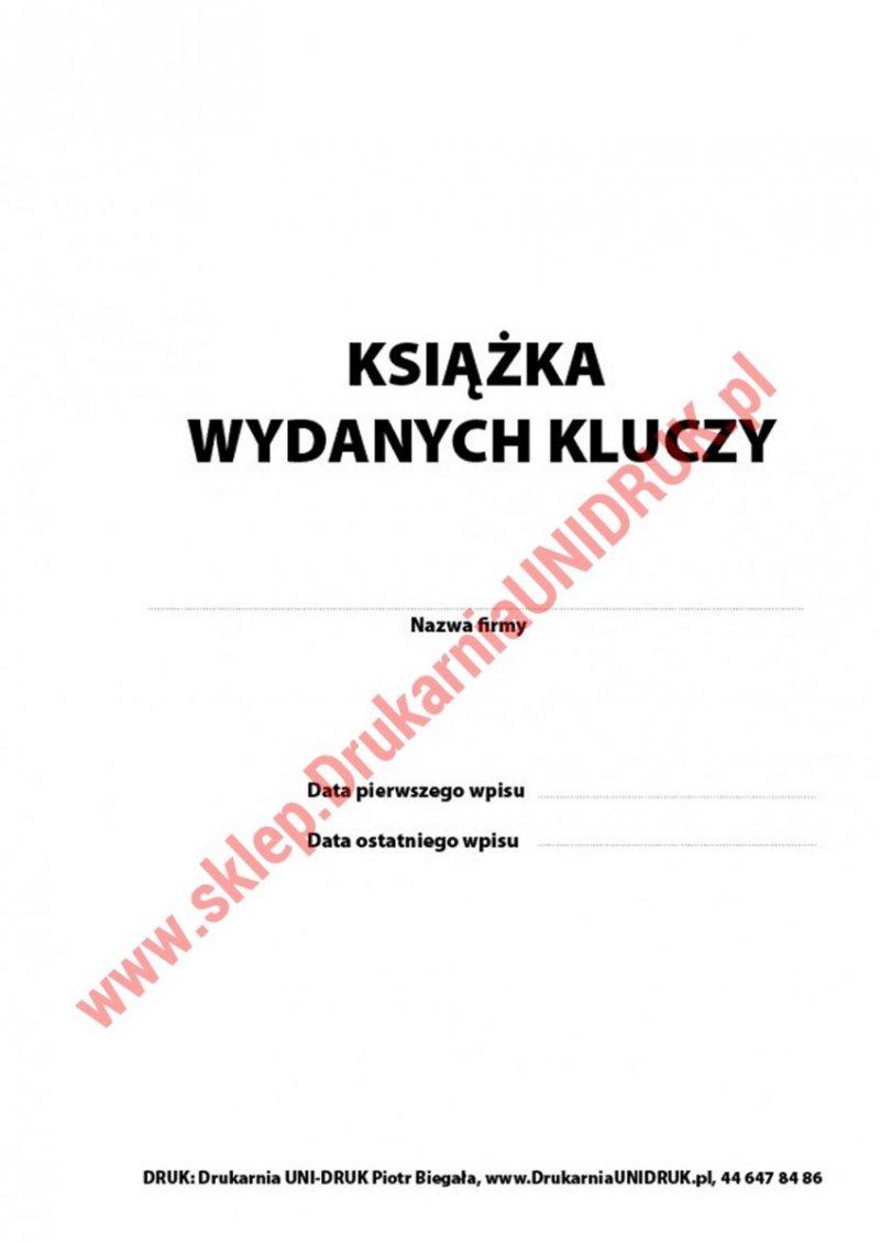 Książka wydanych kluczy A-4 pionowa, opr. miękka