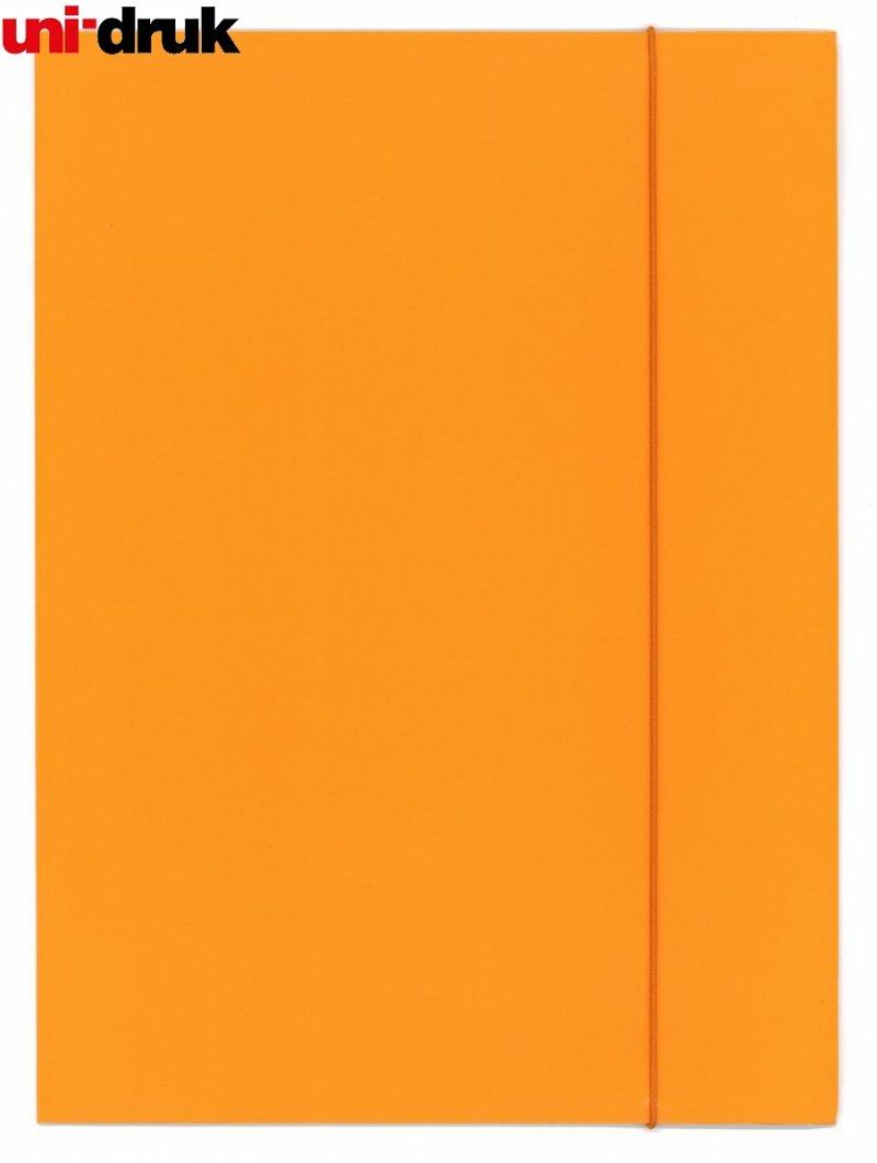 Teczka A4 z gumką - pomarańczowa