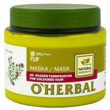 O HERBAL Maska Do Włosów Farbowanych 500ml (Data ważności 07/19)