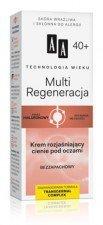 AA Multi Regeneracja 40+ Krem Rozjaśniający Cienie Pod Oczami 15ml Skóra wrażliwa i skłonna do alergii