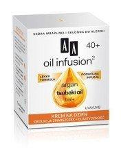 AA Oil Infusion Krem Na Dzień Redukcja Zmarszczek + Elastyczność 40+ 50ml Skóra wrażliwa i skłonna do alergii