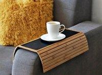 Bambusowa TACA podstawka podłokietnik podkładka na sofę