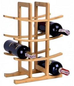 STOJAK NA WINO organizer na 12 butelek drewno LOFT