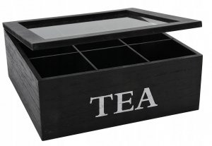 PUDEŁKO ORGANIZER pojemnik na herbatę HERBACIARKA