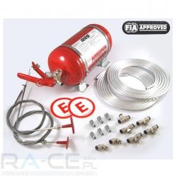 RRS, System gaśniczy stalowy mechaniczny 4,25l  Homologacja FIA