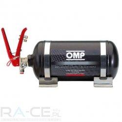 OMP, System gaśniczy stalowy, mechaniczny 2,8l, Black collection, Homologacja FIA