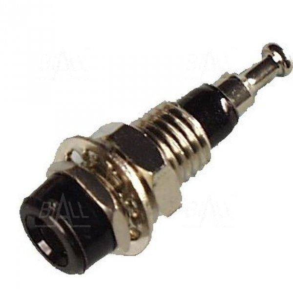 Gniazdo panelowe 2mm GL4-BK 10A, czarny