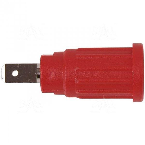 Gniazdo panel bezp. wcisk. SEPB1773-R 24A CATII 1,5kV czerwony