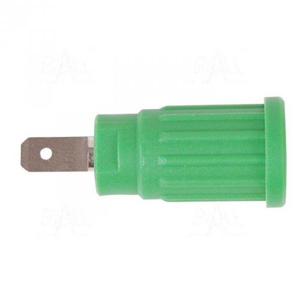 Gniazdo panel bezp. wcisk. SEPB1773-GN 24A CATII 1,5kV zielony