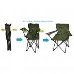 Krzesło turystyczne deluxe składane wędkarskie zielone