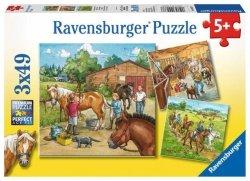 Ravensburger Puzzle 3X49 elementów Moja Stajnia